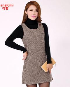 【花君】hanakimi花君 新款时尚气质复古连衣裙 636 图片色