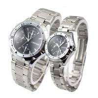 【D1推荐】时尚休闲仿三眼经典浪漫石英情侣手表 不锈钢表带 优质锌合金