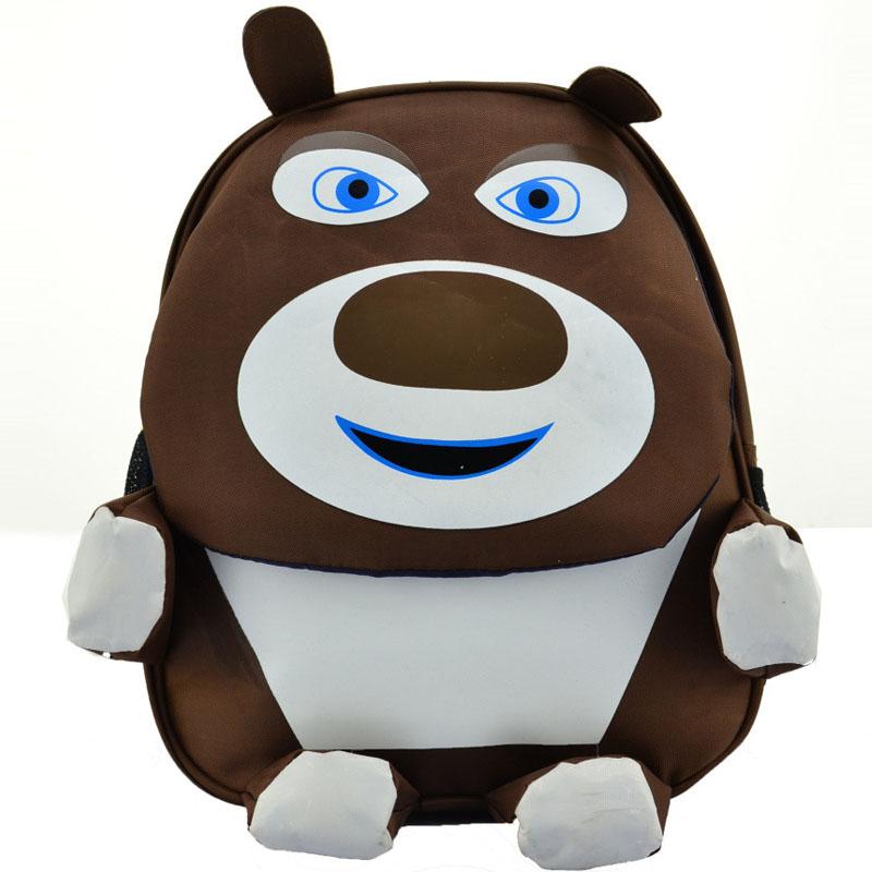 可爱上学幼儿园小学生幼儿儿童双肩书包(棕色熊大)