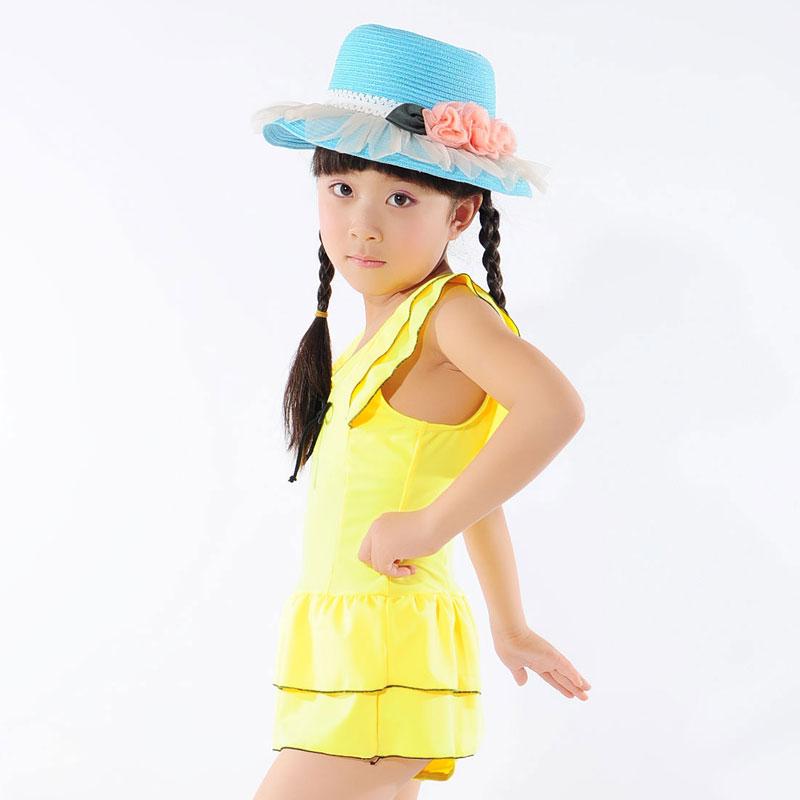 【礿伯】yue bo 礿伯民用最新韩版可爱公主裙儿童泳衣 迷你飞边 甜美