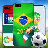 世界杯iphone5手机壳 彩绘手机壳 5s手机外壳
