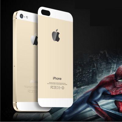 【oma欧玛】苹果iphone5/5s手机钢化玻璃背膜 彩色钢化后膜完美贴合