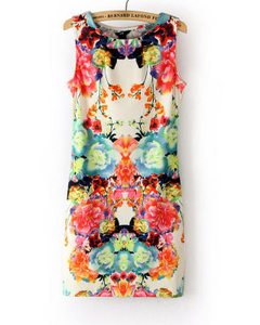 新款女装连衣裙 angelababy同款收腰显瘦无袖连衣裙