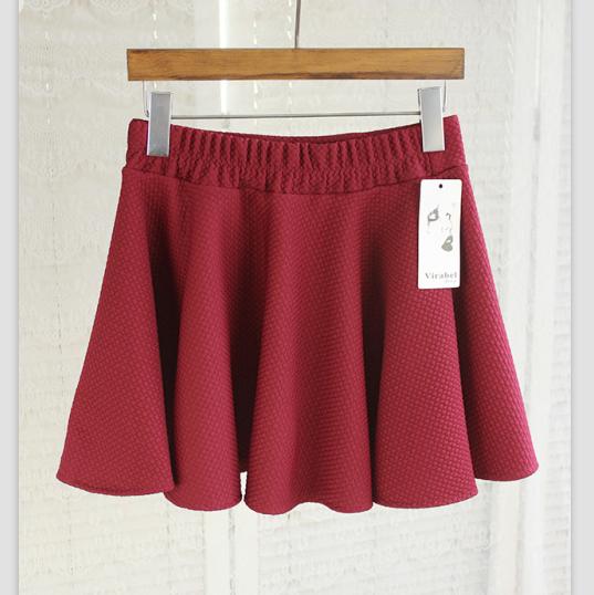 伞裙太阳裙(酒红色)