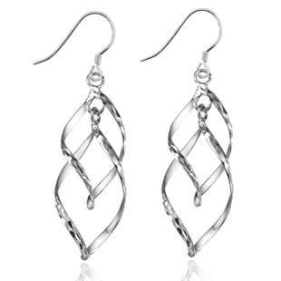 【卡韵尼雅】流苏树叶 s925纯银耳环 简单时尚女士耳环