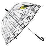 鸟笼透明雨伞定制长柄雨伞加厚poe透明伞(因秒杀单量大