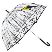 鸟笼透明雨伞定制长柄雨伞加厚poe透明伞(因秒杀单量大 商品将在72小时