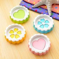 创意时尚圆形心形双层沥水香皂盒