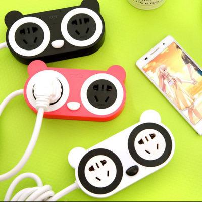 熊猫可爱卡通个性充电插座