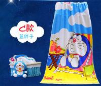 哆啦A梦可爱卡通柔软吸水加大加厚浴巾