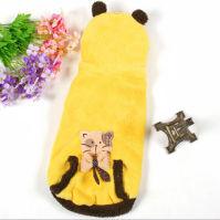 猫狗可穿!软软宠物珊瑚绒宠物衣服(黄色)