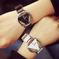 精时简约原宿三角形个性时尚双面镂空手表
