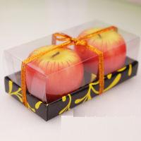 节日造气氛最佳神器-苹果造型浪漫蜡烛(2只)