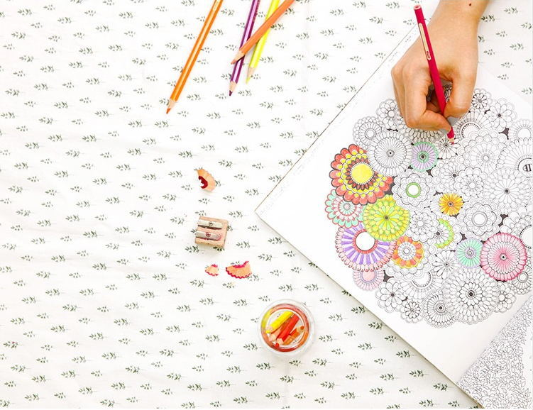 韩版secretgarden秘密花园庭院手绘涂色书线装本送12色中华彩铅笔