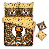 BAPE全棉卡通安逸猿床单四件套