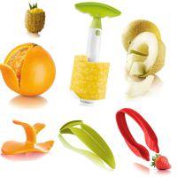 荷兰Vacu Vin梵酷 水果礼品套件(菠萝去皮器,剥橙器,切果刀,草莓剪)