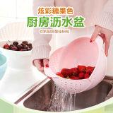 创意厨房带翻盖洗菜篮(淘米神器)