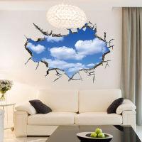【3D创意立体天花板墙贴】蓝天白云系列