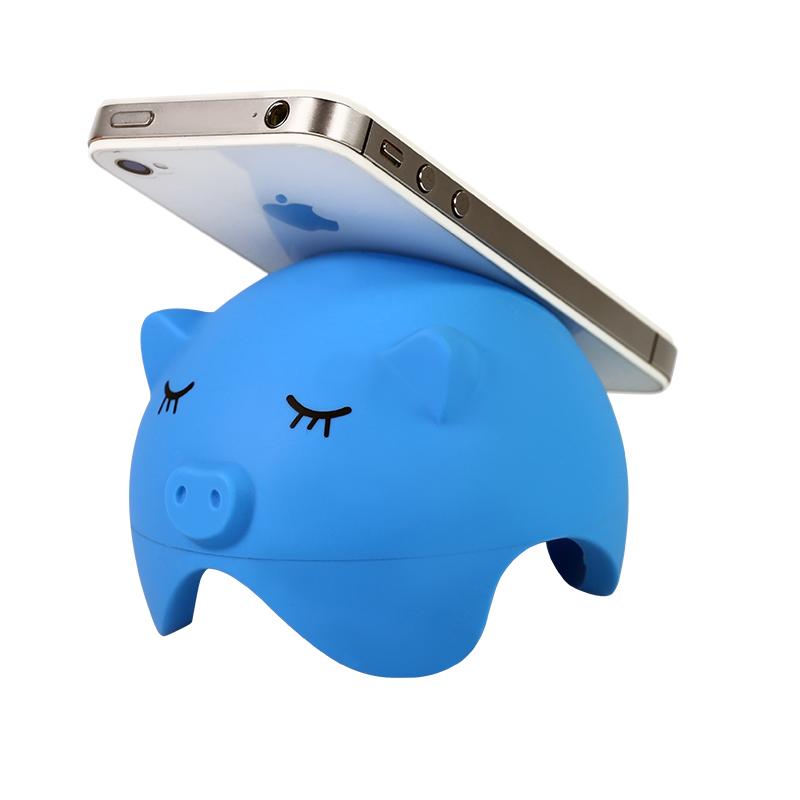 创意可爱小猪手机支架底座(多色可选)【图片