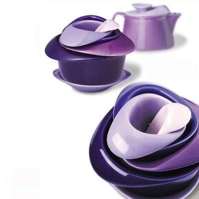 丹麦PO SELECT时尚玫瑰花无铅无汞陶瓷茶具