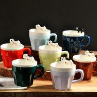 zakka创意日式黑白萌猫陶瓷咖啡杯