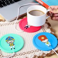 卡通 创意USB硅胶保温杯垫 (颜色随机)