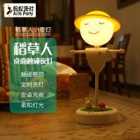 创意稻草人小夜灯蓄电款:提供两个USB接口可为其他设备充电