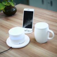 麦极客创意无线供电套装(50度恒温马克杯+无线供电香薰机+手机支架+供