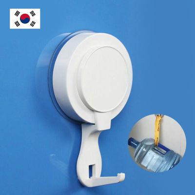韩国DEHUB超级吸盘真空上锁衣帽钩(1只装/白色)