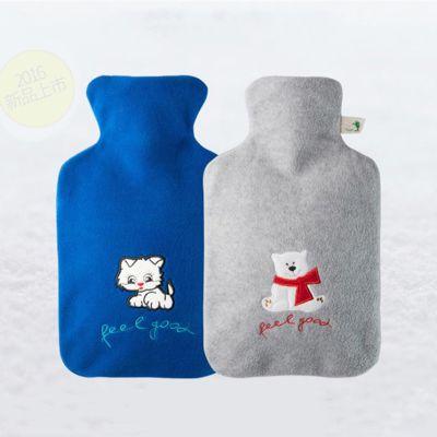 德国HUGO FROSCH一体成型热水袋|小猫&小熊