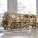 乌克兰Ugears木质机械传动拼装模型|蒸汽机车