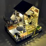 diy小屋手工拼装房子模型带音乐-蓝调爱琴海-中高级-送