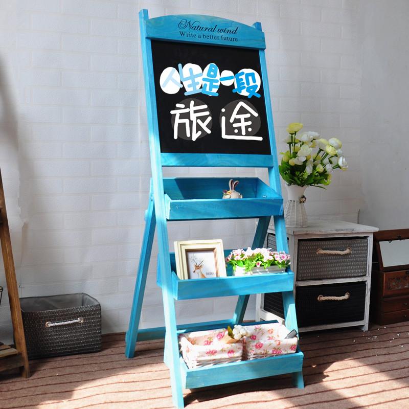 木制小黑板多层创意花架【图片