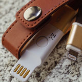 idmix创意 苹果MFI 原装头层牛皮 钥匙扣设计 手