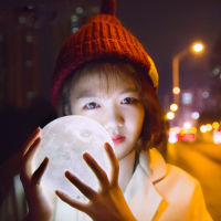 3D打印立体月亮灯触控黄白双色(小号直径10cm)