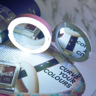 oksense魔镜移动电源LED灯化妆镜