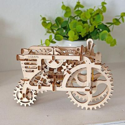 乌克兰Ugears木质机械传动模型|拖拉机