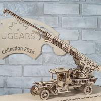 乌克兰UGEARS木质机械传动模型|消防车