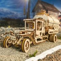 乌克兰UGEARS木质机械传动模型|水罐车