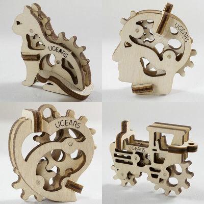 乌克兰UGEARS木质机械传动模型|迷你四件套