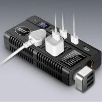 车载逆变器 12V/24V转220V多功能汽车充电插座LK-4198 带点烟口 语音提示