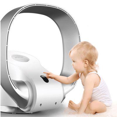 SK无叶落地台式电风扇  无页电扇壁扇挂壁式家用床头超静音(银白色)