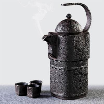 碉楼生铁壶