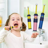 纽乐儿童电动牙刷软毛3-6岁宝宝旋转式婴儿幼儿训练牙刷