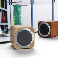 纽曼 (Newmine) 胡桃木质 重低音无线蓝牙音箱音响(小巧款)