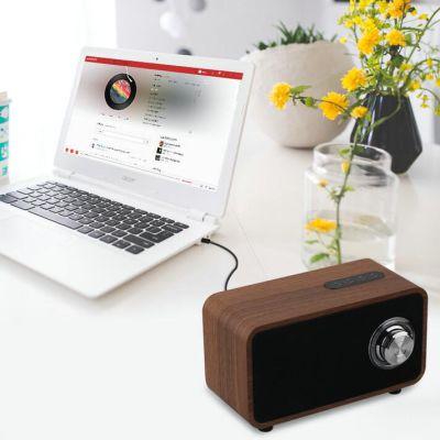 纽曼 (Newmine) 复古木质 重低音无线蓝牙音箱音响