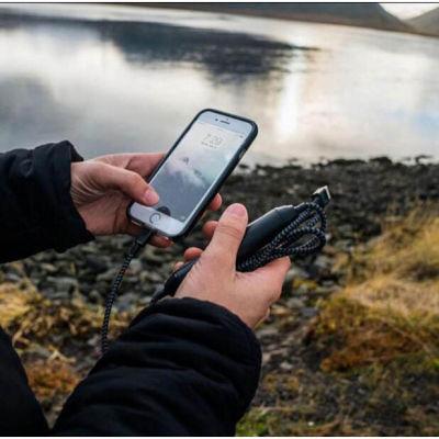 Nomad苹果iPhone 1.5m尼龙移动电源数据线 (带2350毫安充电宝)