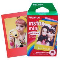富士(FUJIFILM)INSTAX 一次成像相机 MINI相纸(炫彩彩虹版10张 胶片)