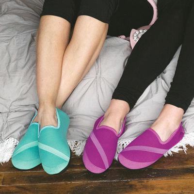 Fitkicks超轻弹力 冬款保暖鞋(女绿/女紫)