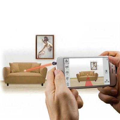 台湾ipin镭射光尺iphone7及以上手机激光尺测距仪,像拍照一样测距!